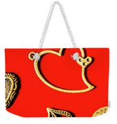 Romantic Heart Decorations Weekender Tote Bag
