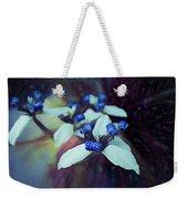 Romantic Island Lilies In Blues Weekender Tote Bag