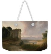 Romantic Landscape With A Temple Weekender Tote Bag