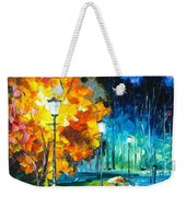 Romantic Night 2 - Palette Knife Oil Painting On Canvas By Leonid Afremov Weekender Tote Bag