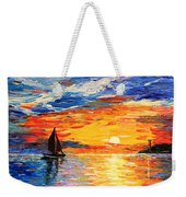 Romantic Sea Sunset Weekender Tote Bag