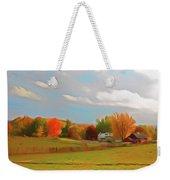 Romantic Skies Autumn Farm Weekender Tote Bag