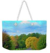 Romantic Skies Autumn Road Weekender Tote Bag