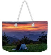 Romantic Smoky Mountain Sunset Weekender Tote Bag
