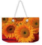 Romantic Sunflowers Weekender Tote Bag