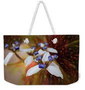 Romantic Textured Island Lilies  Weekender Tote Bag