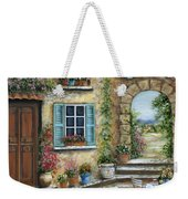 Romantic Tuscan Courtyard II Weekender Tote Bag