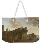 Rome. A View Of The Ponte Rotto Weekender Tote Bag