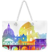 Rome Landmarks Watercolor Poster Weekender Tote Bag