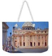Rome Piazza San Pietro Weekender Tote Bag