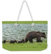 Romping By The Lake With Mama Bear Weekender Tote Bag