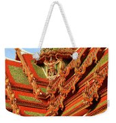 Roof Of Buddhist Temple In Thailand Weekender Tote Bag