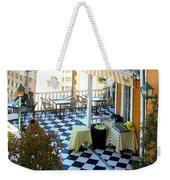 Rooftop Cafe Weekender Tote Bag by Karen Zuk Rosenblatt