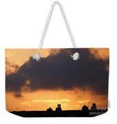 Rooftop Sunset Weekender Tote Bag