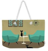 Room With Dark Aqua Chairs Weekender Tote Bag