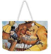 Roosevelt/mckinley Cartoon Weekender Tote Bag