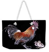 Rooster And Chicks Weekender Tote Bag