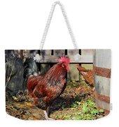 Rooster And Friend Weekender Tote Bag