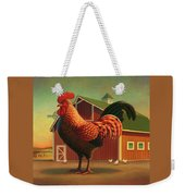Rooster And The Barn Weekender Tote Bag