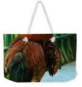 Rooster By The Fence Weekender Tote Bag