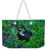 Rooster Grouse Posing Weekender Tote Bag