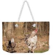 Rooster In The Woods. Weekender Tote Bag