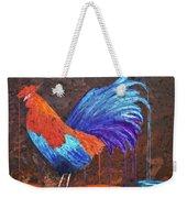 Rooster Painting Weekender Tote Bag
