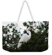 Roosting Egret Weekender Tote Bag