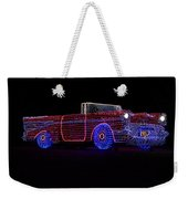 Rope Light Art 1957 Chevy Weekender Tote Bag