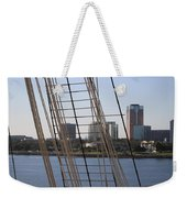 Ropes And Cables Of The Queen Mary Weekender Tote Bag