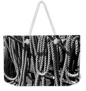 Ropes For The Rigging Bw 1 Weekender Tote Bag