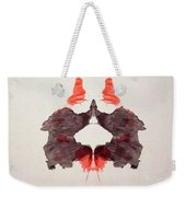 Rorschach Test Card No. 2 Weekender Tote Bag