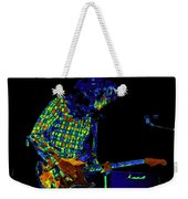 Saturated Blues Rock With Text Weekender Tote Bag
