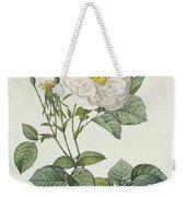 Rosa Alba Foliacea Weekender Tote Bag by Pierre Joseph Redoute