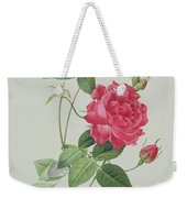 Rosa Indica Cruenta Weekender Tote Bag by Pierre Joseph Redoute