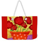 Rose-a-go-go Weekender Tote Bag