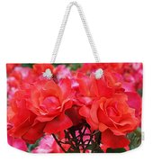 Rose Abundance Weekender Tote Bag by Rona Black