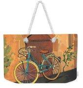 Rose And Bicycle Weekender Tote Bag