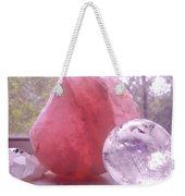 Rose And Clear Quartz 1 Weekender Tote Bag