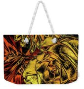 Rose And Lily And Mum With Chrome Effect Weekender Tote Bag
