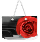Rose And Piano Weekender Tote Bag