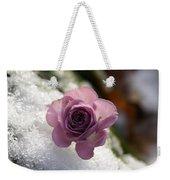 Rose And Snow Weekender Tote Bag