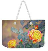 Rose At Sunset Weekender Tote Bag