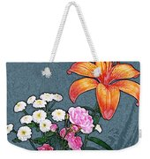 Rose Baby Breath And Lilly Weekender Tote Bag
