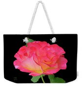 Rose Blushing Cutout Weekender Tote Bag