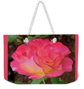 Rose Blushing Weekender Tote Bag