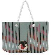 Rose Breasted Grosbeak And Song Weekender Tote Bag
