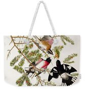 Rose Breasted Grosbeak Weekender Tote Bag by John James Audubon