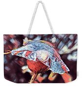 Rose Bud Frozen In Time  Weekender Tote Bag