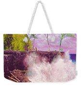 Rose Colored Splash At Mackenzie Weekender Tote Bag